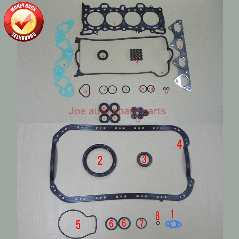 D14Z1 D14Z2 D15Z3 D15Z6 D15Z8 D16W1 D16Y2 D16Y5 D16Y6 D16Y7 D16Y8 Engine Full gasket  kit for Honda CIVIC CRX Mk HR V 52151000-in Full Set Gaskets from Automobiles & Motorcycles