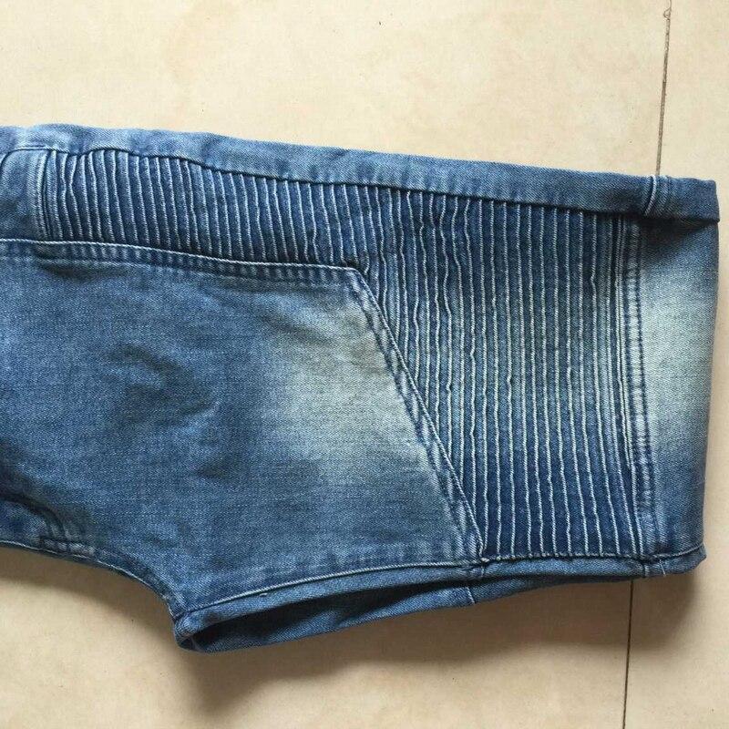 e8fb919760d0 Hot Sale Mens Skinny Biker Jeans Slim Fit Stretch Denim Fabric Hip Hop Jean  Pants Washed Biker Denim EUR Size 4 Colors GAJ050-in Jeans from Men s  Clothing ...