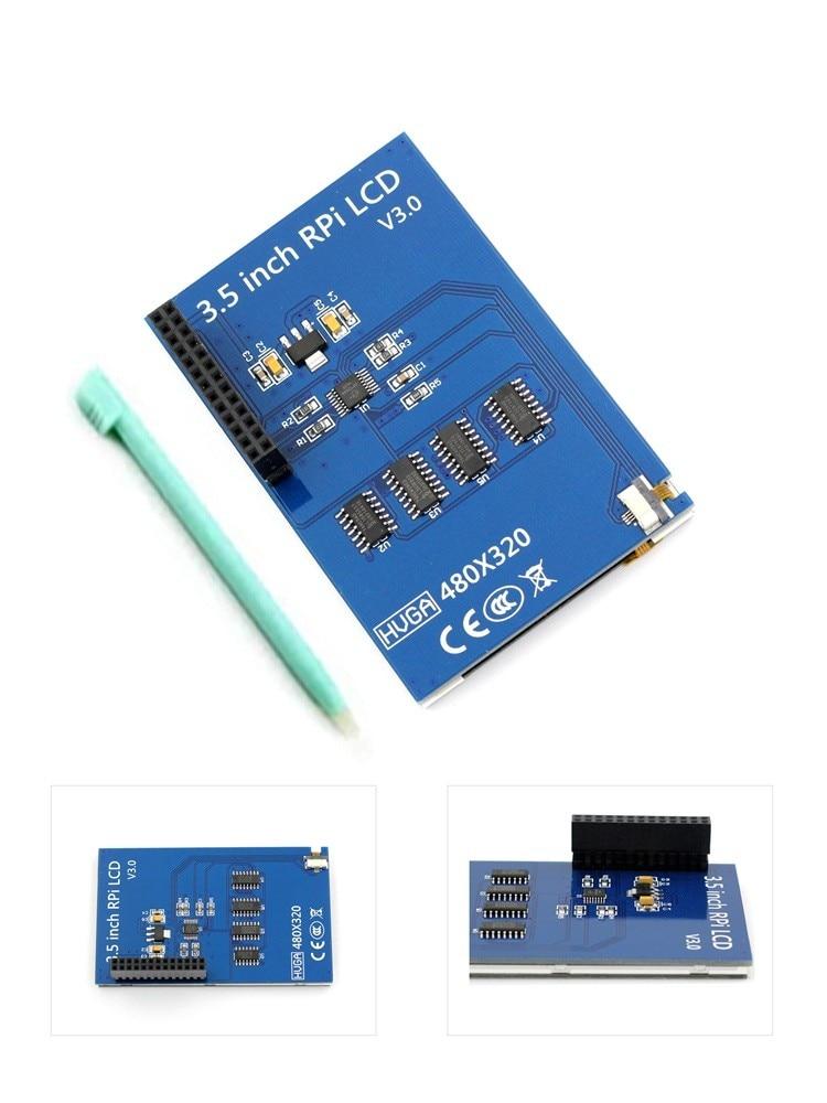 """Melhor preço original 3.5 """"lcd tft tela de toque para raspberry pi 4b/raspberry pi 3 modelo b placa + acrílico caso stylus"""