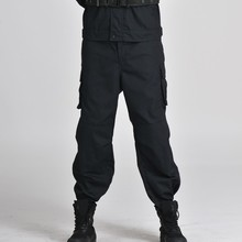 New Arrival 2016 Brand Indoors Spring And Autumn Men Military Commando Straight Black Traning Tactical Trousers Overalls Pants