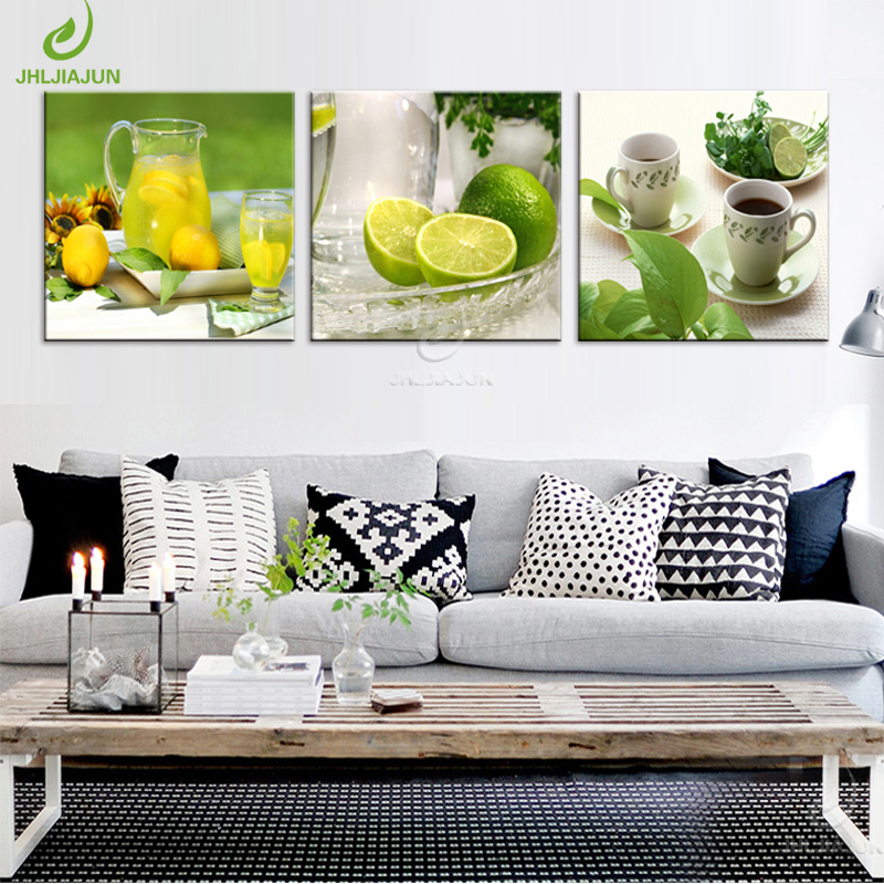 JHLJIAJU Fruit paintings for the kitchen picture modular mass effect Oil Paintings wall panels for the living room poster frame