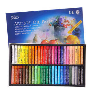 Drawing-Set Pastel-Pencils Crayons School-Stationery Colour Pen-Chalk Kids 50pieces Refill
