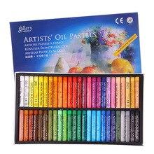50 ชิ้นพาสเทลดินสอดินสอสีชุดวาดหนา Refill Colori Giz สีพาสเทลปากกาชอล์ก Pastelli เด็กโรงเรียนเครื่องเขียน