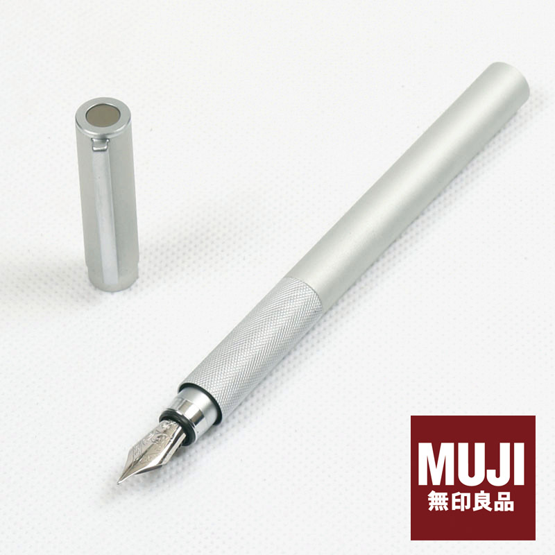 Japan's original Muji high quality aluminum  short pocket fountain pen gel pen ink  FREE shipping