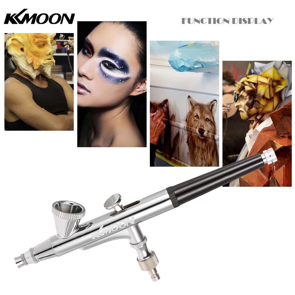 Dual Action Gravity Feed Airbrush Gun Kit Art Paint Air Brush Spray Tattoo Nail