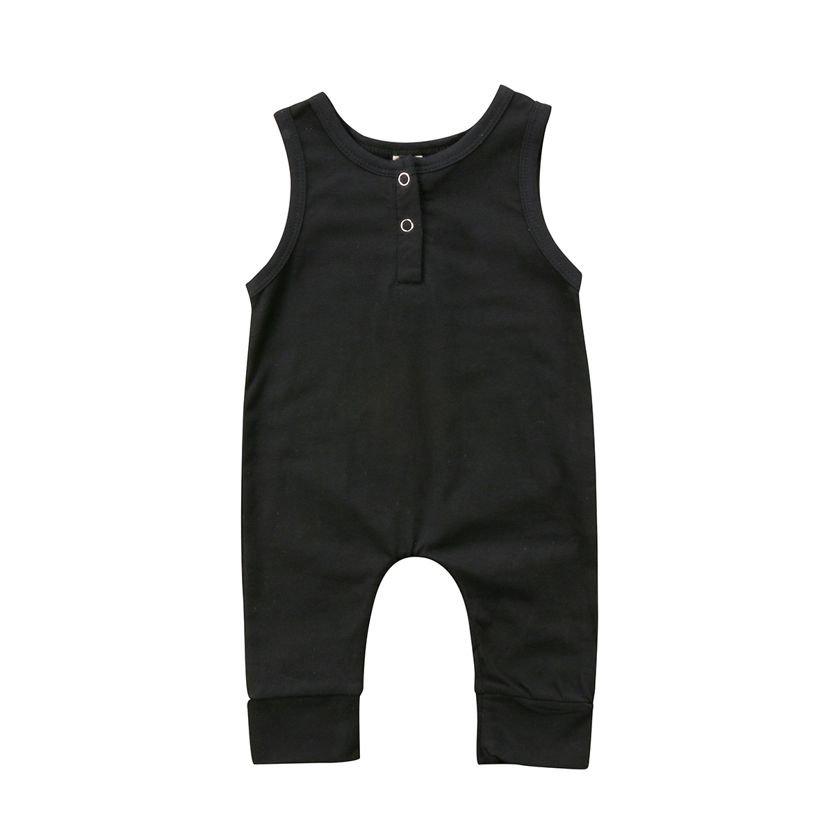 0-18M Infant Newborn Baby Boys Girls Clothes sleeveless Cotton Black   Romper   Jumpsuit Outfits Summer baby clothing