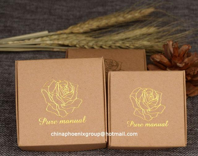 Online shop wholesale pcs lot gold stamping kraft paper boxes
