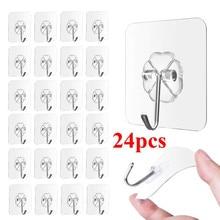 Suction-Cup-Hooks Strong-Organizer Bathroom Transparent Multifunction Kitchen Seamless-Sucker-Hanger