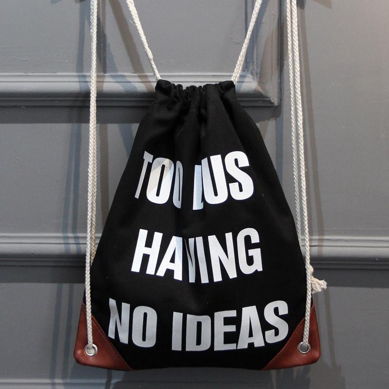 Women Canvas Drawstring Bag Men Printing Backpack Girls School Bagpack Female Casual Travel Bag Mochila Feminina rucksack