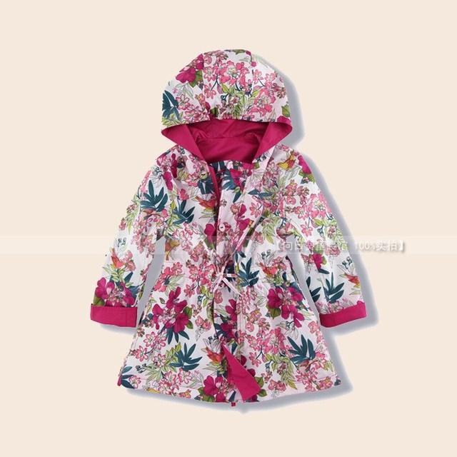 Nueva Marca de Moda Niños Niñas Algodón de Los Niños Capa Con Cap Dos caras prendas de vestir exteriores de la chaqueta ENVÍO GRATUITO
