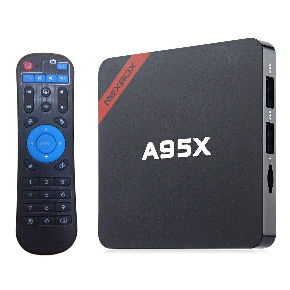 Smart set top box A95X Android 6.0 S905X Quad core Cortex A53 2GB+16GB WiFi HD Smart TV BOX newest h8 android 6 0 tv box amlogic s905x quad core cortex a53 2g 8g smart android tv box