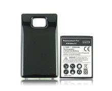 Extended Thicker  Phone Replacement  Battery For Samsung Galaxy S2 SII i9100 GT-i9100 3500mah Battery with Black Back Cover Case