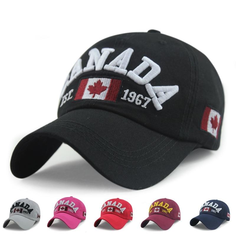 New Arrivals Cotton Gorras Canada Baseball Cap Flag Of Canada Hat Snapback Adjuatable Mens Baseball Caps Brand New For Adult
