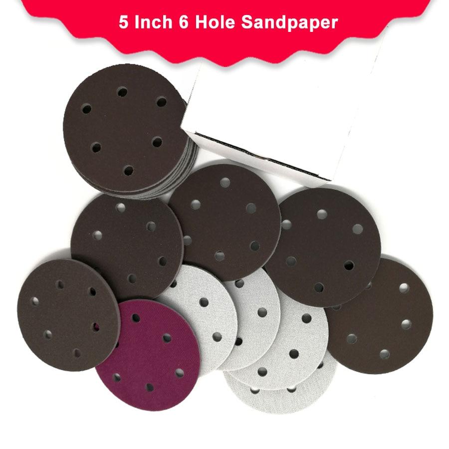 5 Inch 125mm 6 Hole Dry Wet Sponge Sandpaper Flocking Disc Sanding Paper 300 2000 Grit Abrasive Tools Accessories|Abrasive Tools|   - AliExpress