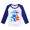 Children Sports Tops for Boys Pj Mask Cotton T-shirt Brand Long Sleeve Sweatshirt Winter T-shirts Teenager Girls Costumes Autumn