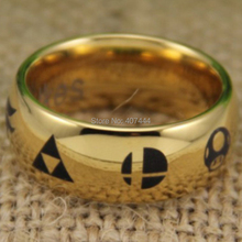 Free Shipping USA UK Canada Russia Brazil Hot Sale Zelda/Metroid/Pokemon/Mario Bros/Star/Fox Super Smash Bros Cool Tungsten Ring(China)