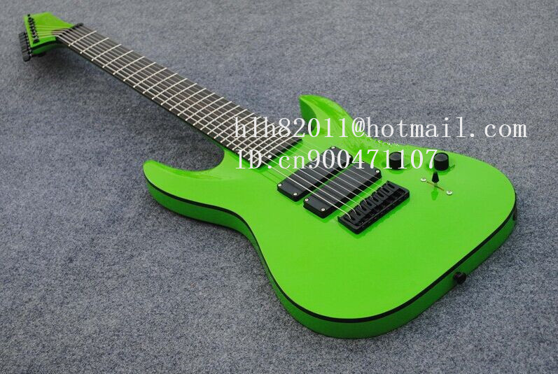 new 8-strings electric guitar in green with black hardware and ebony fingerboard made in China + free shipping+foam box  F-2107 free shipping new hollow electric guitar with mahogany body and chrome hardware in orange for jazz music made in china f 3079