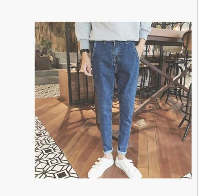 Jean male slim fit type Metrosexual  pants  young male autumn fashion design  brand new stylish  AQ985