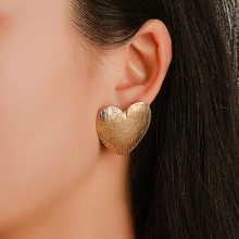 New Earrings Women's Peach Heart Heart Ear Ring Set Popular Gold Earrings Wholesale Earrings For Women Earings Fashion Jewelry(China)