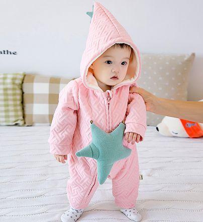 Carter roupas de Bebê Macacão grosso queda e roupas de inverno bebê recém-nascido do lado de fora no inverno quente escalada roupas Romper ternos