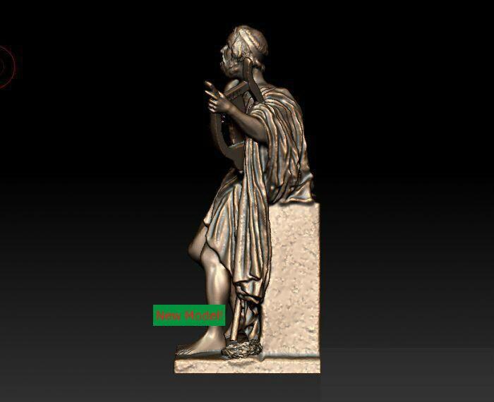 3D modell für cnc 3D CNC maschine in stl-format Antiken Griechischen poet