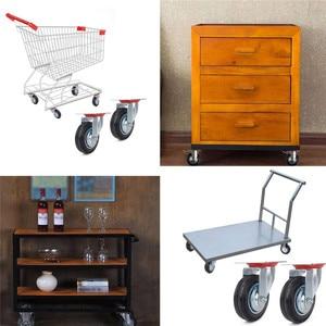 Image 5 - 4pcs 75mm Heavy Duty 200kg Swivel Castor Wheels Trolley Furniture Chair Casters Rubber Brake Trolley Wheel ruedas para mueble