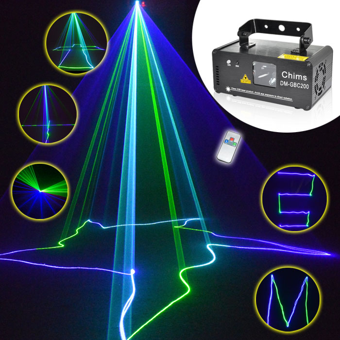 Chims DMX Control 200mw Laser Light Stage Lighting Scanner Cyan Show Bright Effect Projector Party Musical Dance Home DM-GBC200 dance legend red show 05 цвет 05