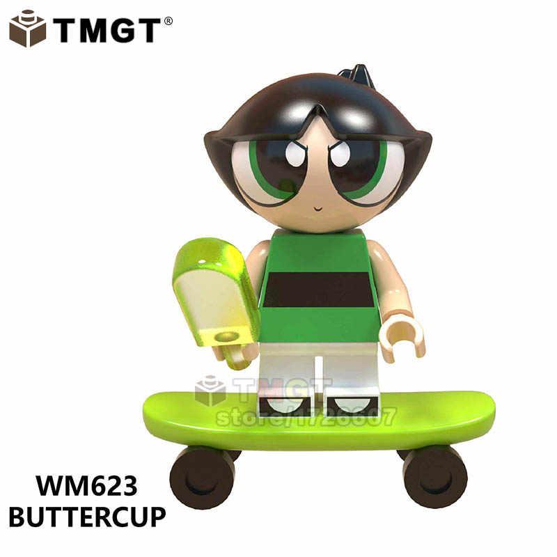Único Legoings Amigo Figuras Super Meninas Ponto ETboy Unikitty Angie Stripe Dos Desenhos Animados do Filme Building Blocks brinquedos para crianças