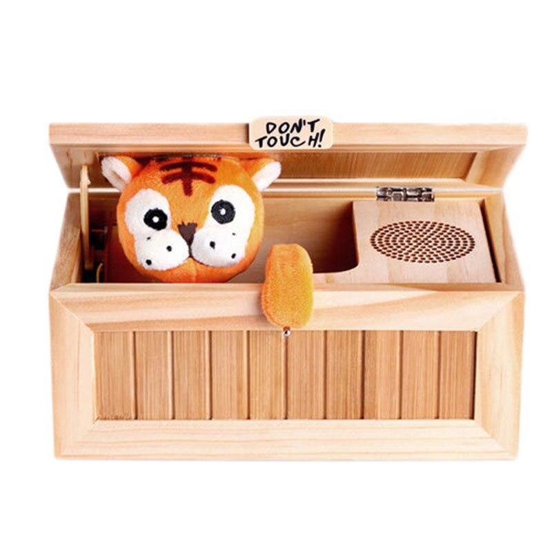 US $18 42 53% OFF|Houten Nutteloos Elektronische Doos Leuke Tiger Grappig  Speelgoed Gift Decompressie Speelgoed Interessante Geschenken in Houten