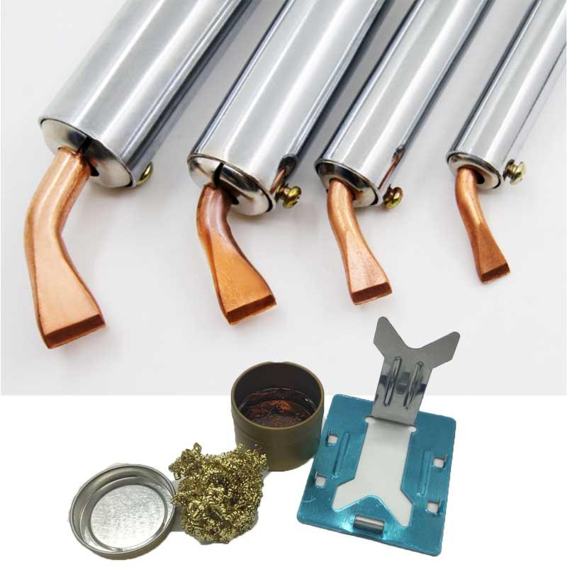 Heavy Duty External Heat Electric Soldering Iron 50W 75W 100W 150W 200W 300W High Power Soldering Iron Chisel Tip Wood Handle