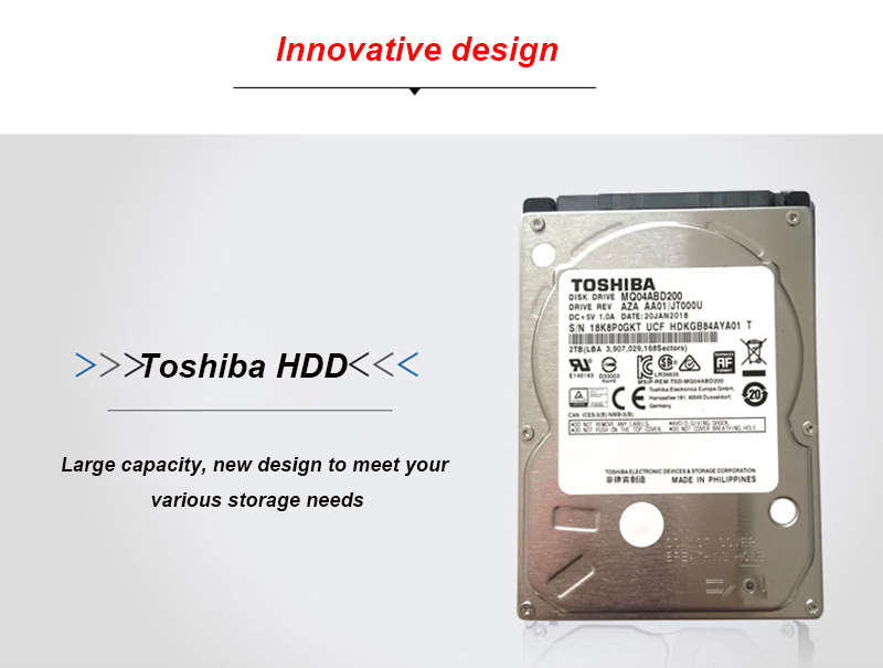 Original Toshiba 2TB Hard Drive Disk MQ04ABD200 SATA 5400RPM 16MB Cache 7mm  Thinness 2 5