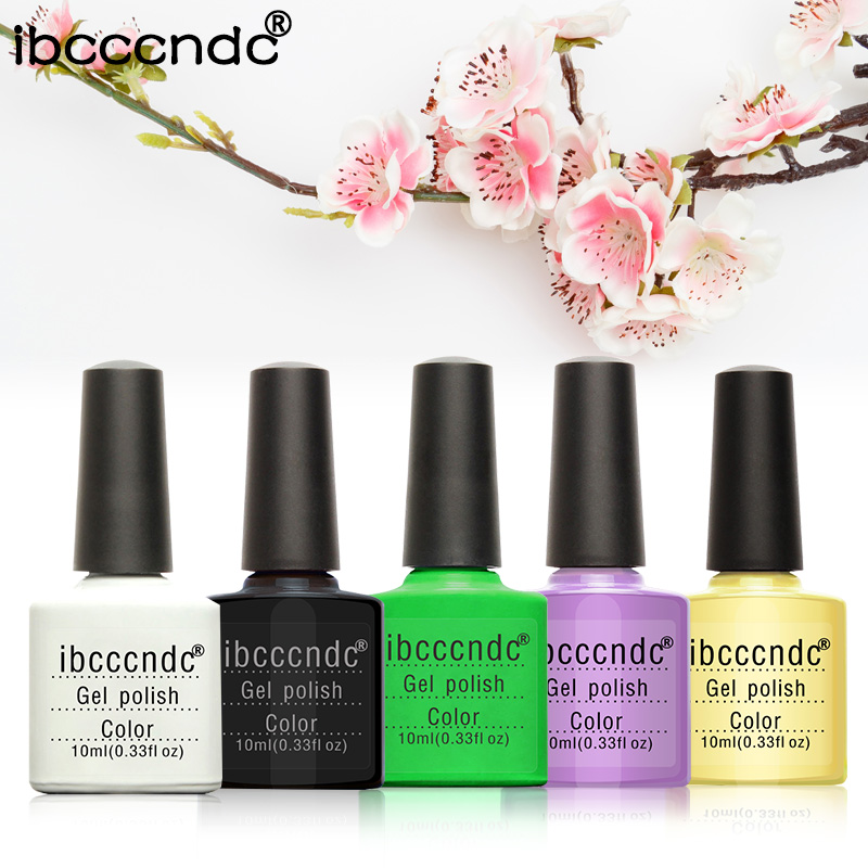 New 5pcs/lot 10ml Gel Nail polish Soak-off UV Led Gel Polish Long-lasting Nail Art Manicure Colorful Gelpolish Set UV Nail Gel жидкость domix green professional nail gel polish remuver