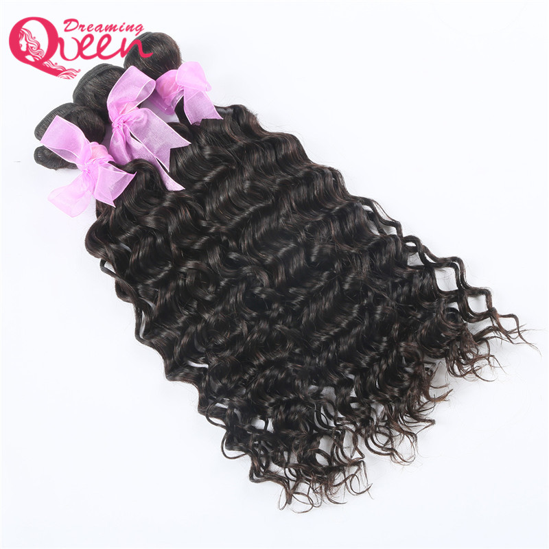 Brazilian Water Wave Human Hair Extensions Remy Hair Weave Bundles Natural Black 1 Piece Lot Dreaming