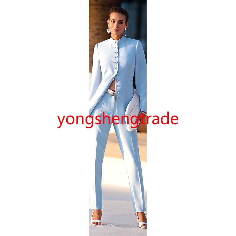 D'affaires 120 Costume Pantalon Bleu Made Ciel Mode Custom Femmes StF7wtxg