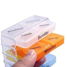 Joylife 7 Days Weekly Travel Medicine Tablet Holder Dispenser Organizer Storage Pill Box Case Sorter Drug Box Container Splitter