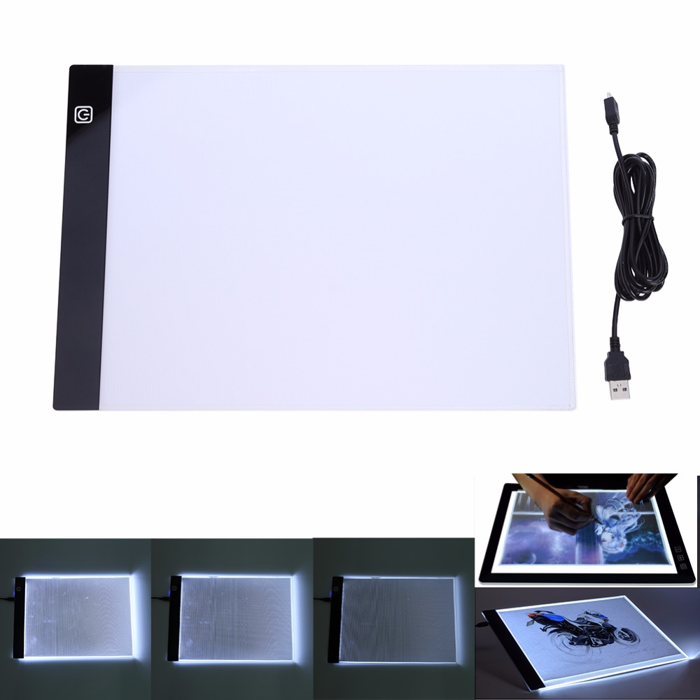 LED tableta gráfica escrito pintura caja de luz de copia tablero de dibujo Digital Tablet Artcraft A4 copia de la placa de LED