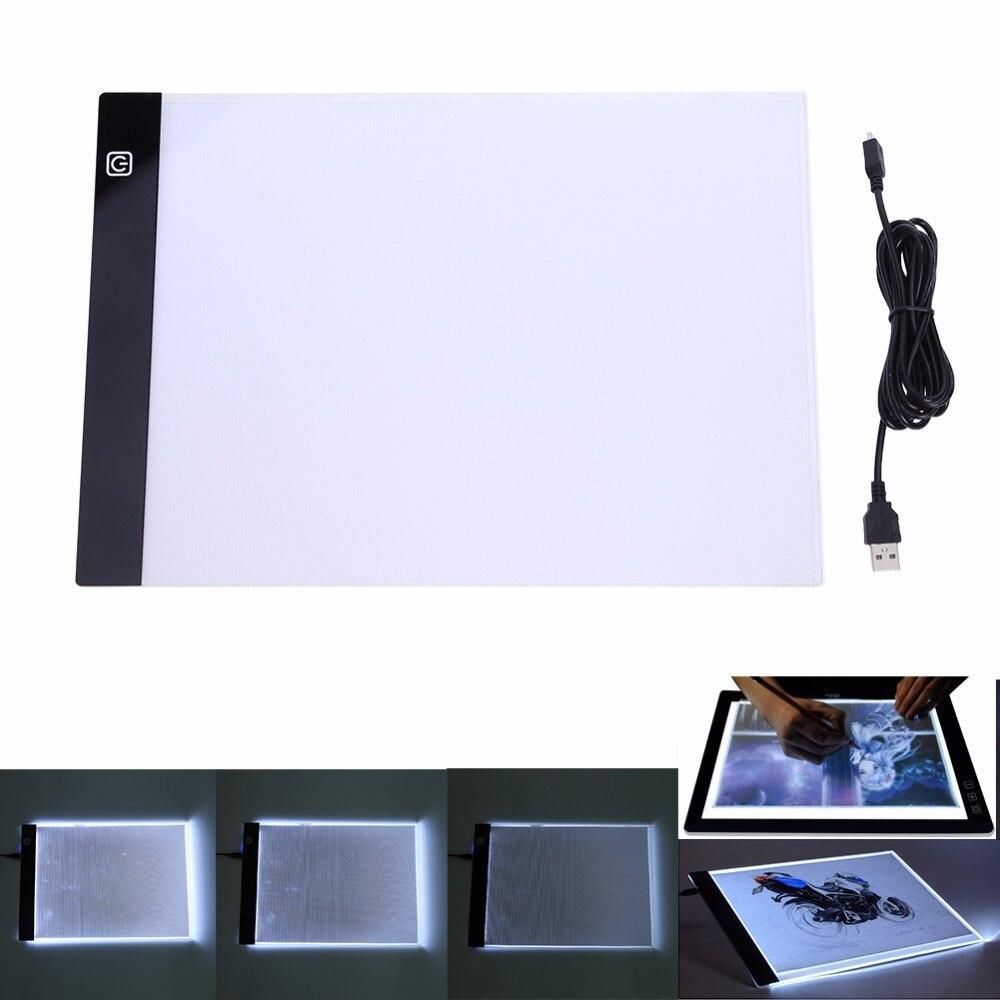 LED tableta gráfica escrito pintura caja de luz de copia tablero de dibujo Digital Tablet Artcraft A4 copia de la placa de LED