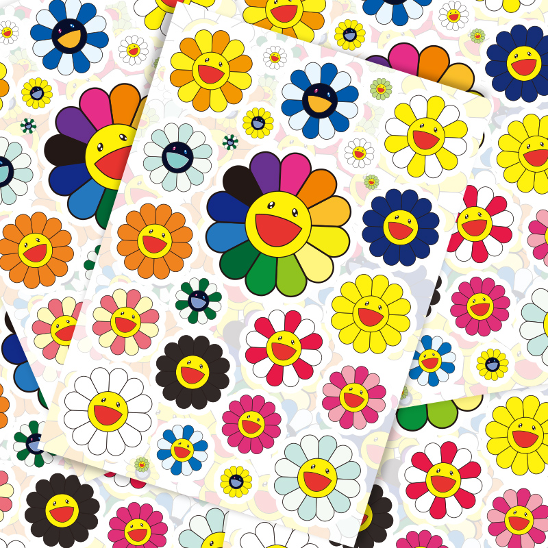 22 Pcs Sun Flower Art Personality Tide Brand Luggage Suitcase Stickers Trolley Case Laptop Stickers