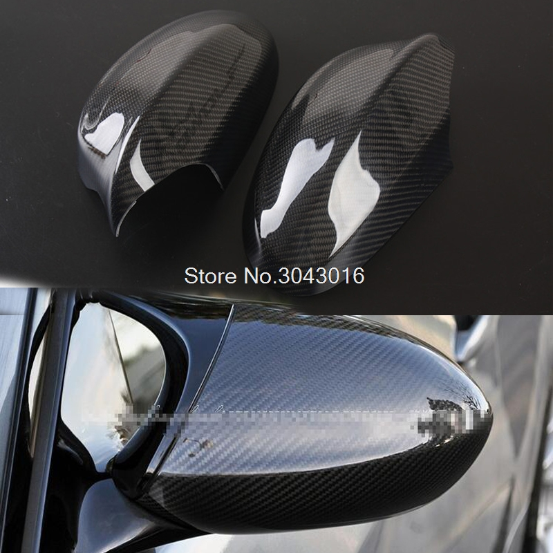 For BMW E90 E92 E93 M3 Carbon E82 1M 2008 2009 2010 2012 2013 Carbon Fiber Rear View Mirror Cover Add on With double sided tape for volvo xc60 2009 2010 2011 2012 2013 add on style carbon fiber rear view mirror cover