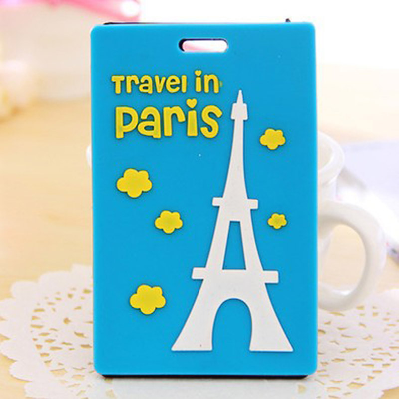1pc PVC Travel Luggage Tag Trunk Marks Tags Suitcase Consignment Card ID Name Address Identify Tag