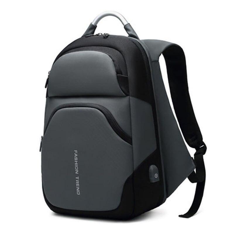 Sacs à dos d'ordinateur portable hommes USB charge à la mode affaires sac à dos hydrofuge grande capacité voyage sac à dos mâle mochila ML045 - 6