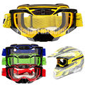 New Universal Motorcycle Motocross Goggles Eyewear Sports Ski Glasses for Helmet Anti-fog Lens With
