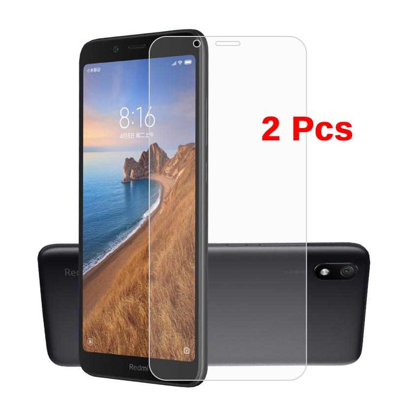 2pc Tempered Glass On Redmi 7 7a Screen Protector On Redmi 6 6a Note 7 Go For Xiaomi Mi 8 A2 Lite 9 A1 Protective Glass Xiomi