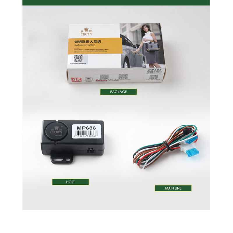 Keyless Entry Auto Central Locking Universal Sensor From Android/ISO SmartPhone Automatic Trunk Opening Car Alarm System <font><b>MP686</b></font> image