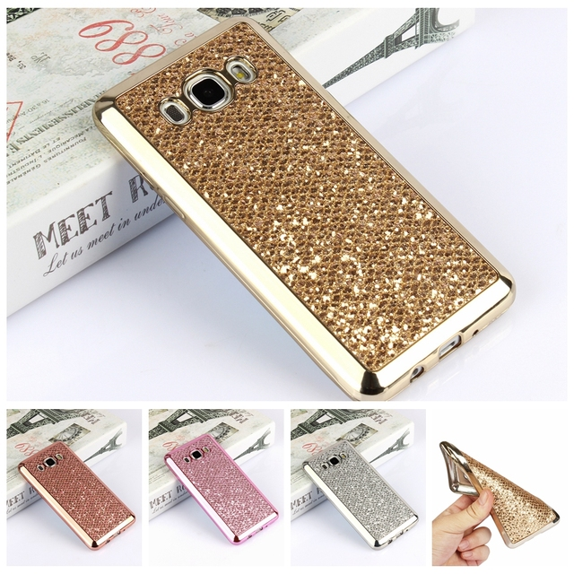 afb025842b3 Glitter diamond Silicone Cases For Samsung Galaxy S8 Plus S6 S7 Edge A3 A5 A7  2017 J1 J3 J5 J7 2016 Grand Prime Soft TPU Case