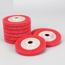 Колеса для полировки металла 100*16 мм 7p 9p нетканое абразивное колесо из нейлонового волокна для полировки абразивный диск для колес