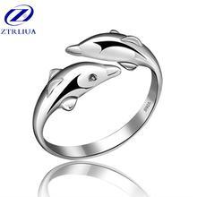 Женское кольцо с изысканным животным Оригинальное женское двойным