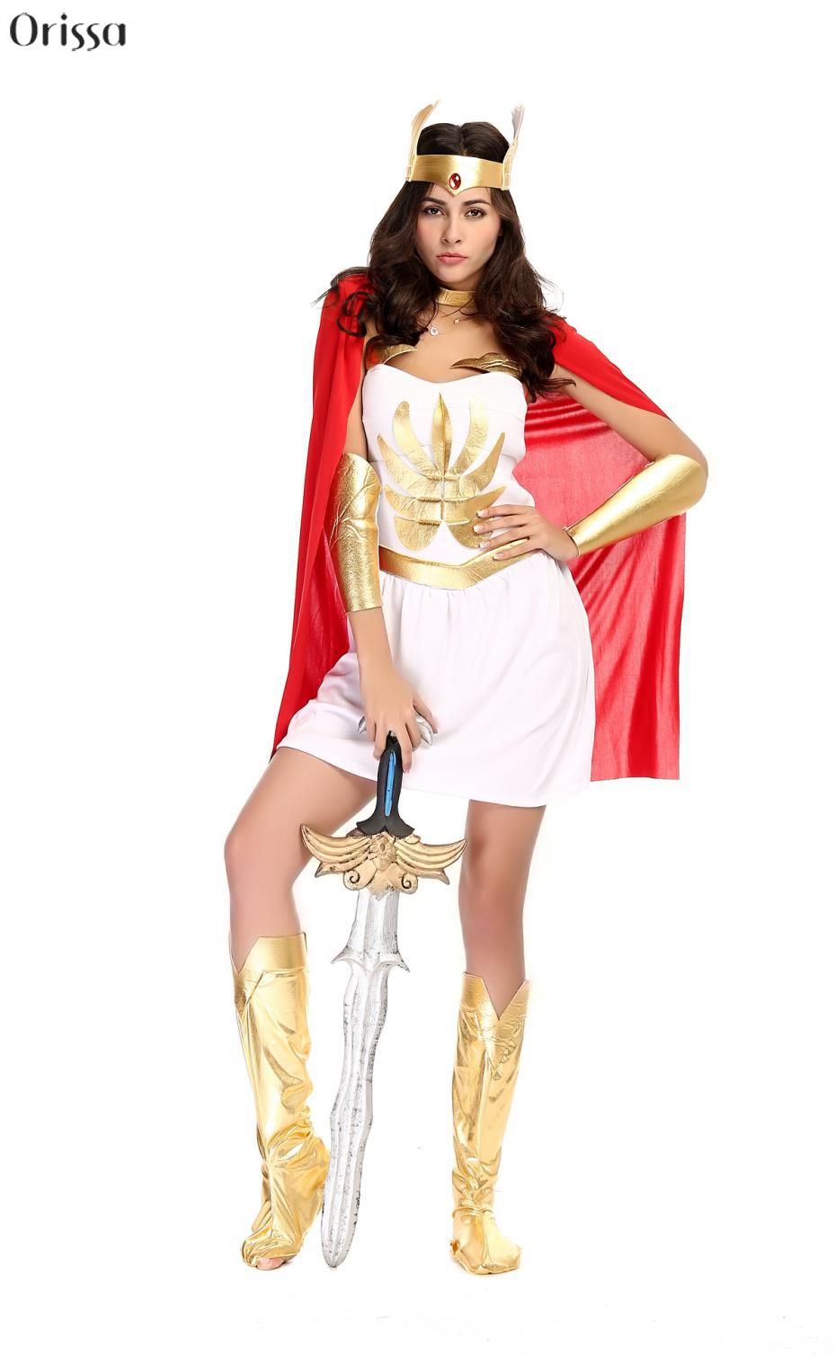 Deluxe Masters Of The Universe She Ra Dress Deluxe 80u0027s Super Shera Fancy Dress Women Halloween Costume Party Costume-in Sexy Costumes from Novelty ...  sc 1 st  AliExpress.com & Deluxe Masters Of The Universe She Ra Dress Deluxe 80u0027s Super Shera ...