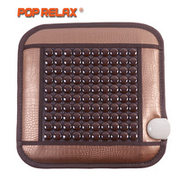 POP RELAX Thermotherapy Seat Sitting Stone Mattress Health Care Heating Seat Tourmaline Germanium Electric Body Massage Mat Pad