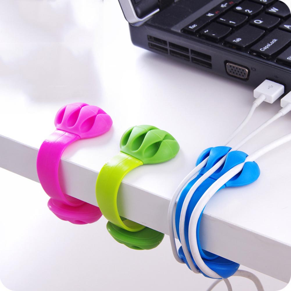 New Creative Office Desk Edge Hub Folder Winder Wire CollectionFinishing Data Line Holder Data Line Manager